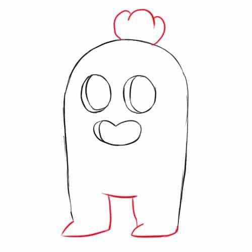 Как нарисовать Спайка из Бравл Старс - шаг 4