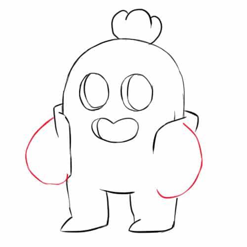 Как нарисовать Спайка из Бравл Старс - шаг 6