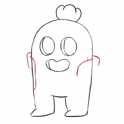Как нарисовать Спайка из Бравл Старс - шаг 5