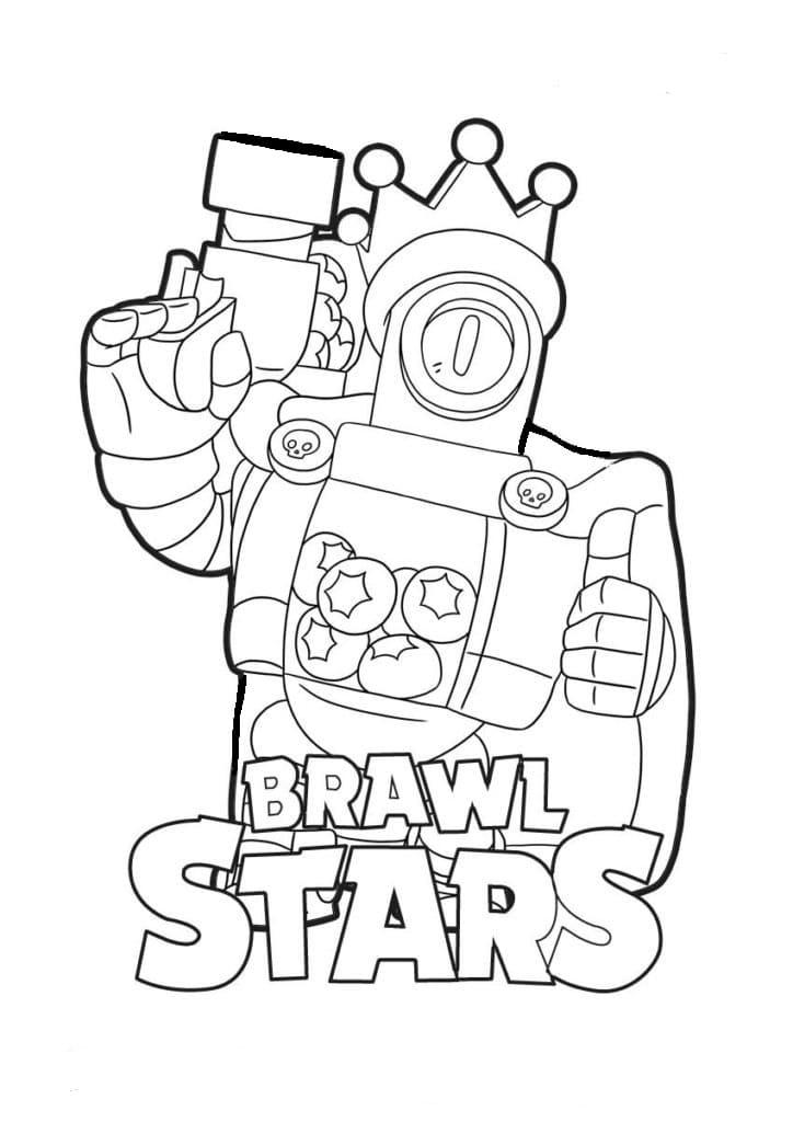 Как нарисовать Рико из Бравл Старс: раскраска, рисунки ...