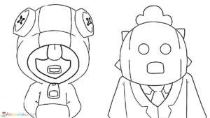 Леон и Спайк раскраска