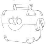 Раскраска Мега ящика Бравл старс